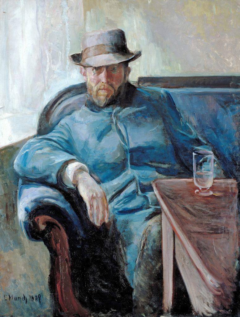 Hans Jæger, 1889. Oliemalet på lærred af Edvard Munch (1863–1944). Placeret på Nasjonalgalleriet i Norge. Photo: Source/Photographer Nasjonalmuseet / Lathion, Jacques. Public Domain.