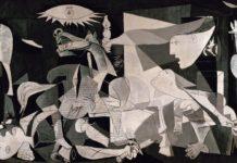 Maleriet 'Guernica' fra 1937 er et hovedværk for maleren Pablo Picasso (1881 - 1973). Photo taget 30. november 2017 af Laura Estefania Lopez. (CC BY-SA 4.0).