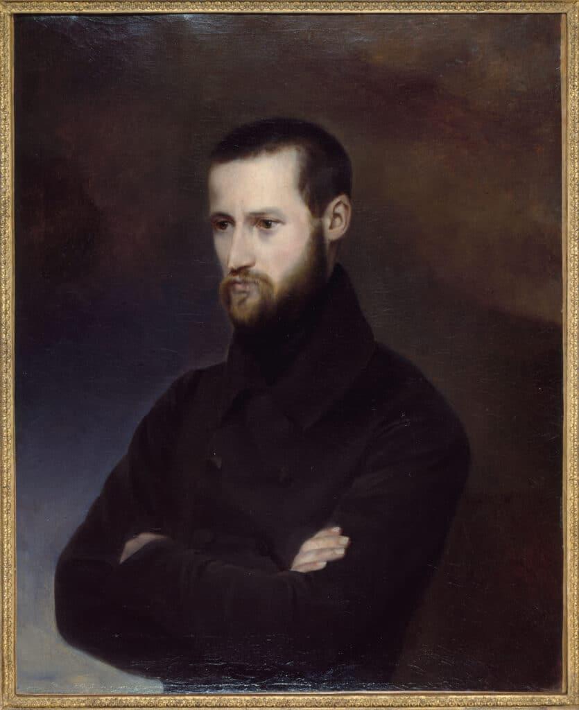 Auguste Blanqui (1805-1881). Date: Circa 1820-1850. Oil on canvas painted by Amélie-Suzanne Serre (1814-1841). Collection: Musée Carnavalet. Public Domain.