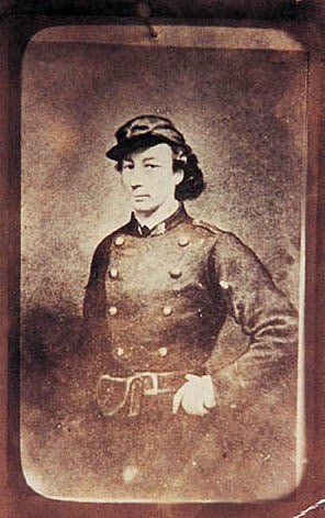 Louise Michel - Communarde - Anarchist - in the uniform of the Communards, 1871. Photo: Unknown. Public Domain.