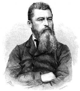 Portait engraving of Ludwig Feuerbach from Die Gartenlaube 1872 (1) p. 17, 1872. Source: Die Gartenlaube. Author: Ernst Keil (publisher). Public Domain.