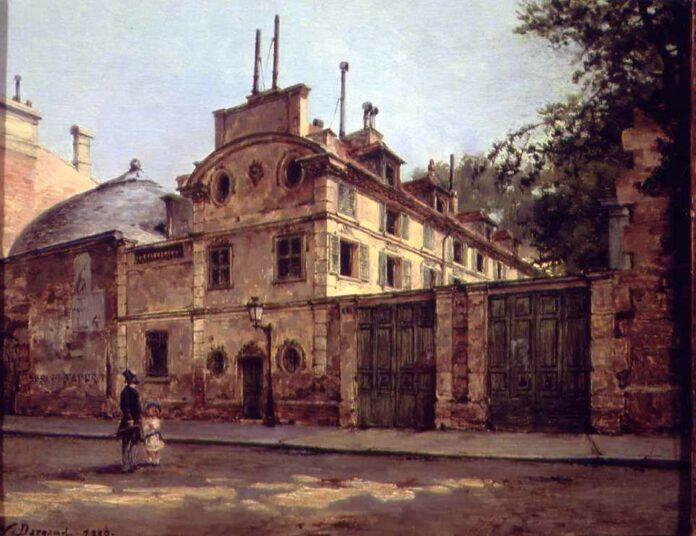 Honoré de Balzac's house, rue Fortunée, 1880. Painted by Paul-Joseph-Victor Dargaud (1873–1921). Public Domain.