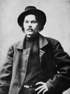 Maxim Gorky, circa 1900. Photo: Unknown author. Public Domain.