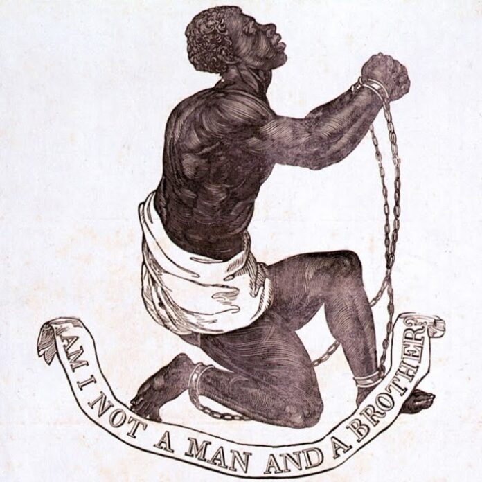 The Official Medallion of the British Anti-Slavery Society, 1795. Artist: Josiah Wedgwood (1730-1795) and either William Hackwood or Henry Webber;