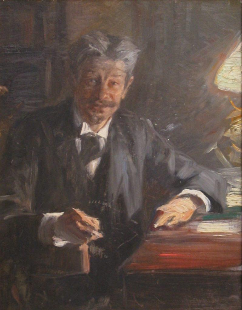 Portræt af Georg Brandes, 1900 - Skitse til maleri. Fra Hirschsprungs Samling. Malet af Peder Severin Krøyer (1851–1909). Public Domain.