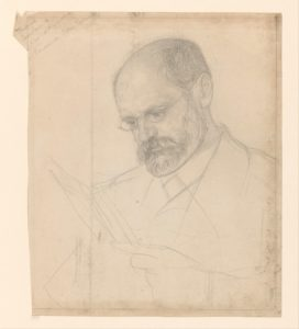 Portrait of Karl Kautsky, between 1874-1925. Pencil drawing by Jan Veth (1874-1925). Placed at Rijksmuseum, Netherlands. Public domain.