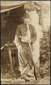 Portrett av Marcus Thrane (1817-1890) Beskrivelse / Description: Visittkort. Dato: ukjent Fotograf: ukjent/Nasjonalbiblioteket, Norge. (CC BY 2.0).