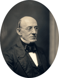 William Lloyd Garrison, circa 1850. Daguerreotype by Southworth and Hawes (American, active 1843–1863). Collection: Metropolitan Museum of Art. Public Domain.