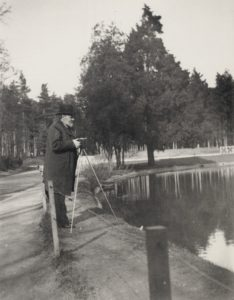 Emile Zola was an avid and skilled photographer. Here he is photographed while photographing in Bois de Boulogne. Date: Unknown. Photo: Francois Emile Zola (1840–1902). Public Domain.
