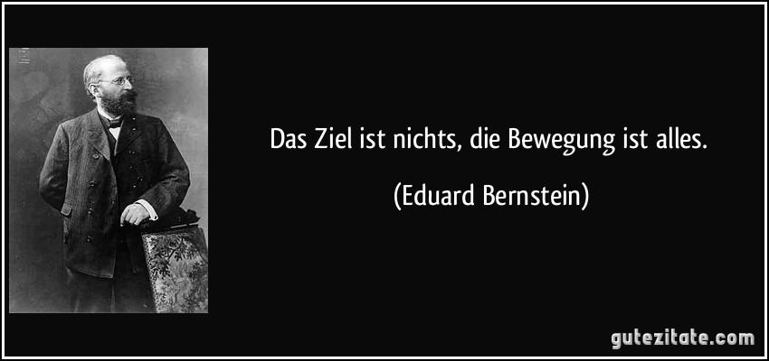 """Quote by Eduard Bernstein: """"Das Ziel ist nichts, die Bewegung ist alles."""""""