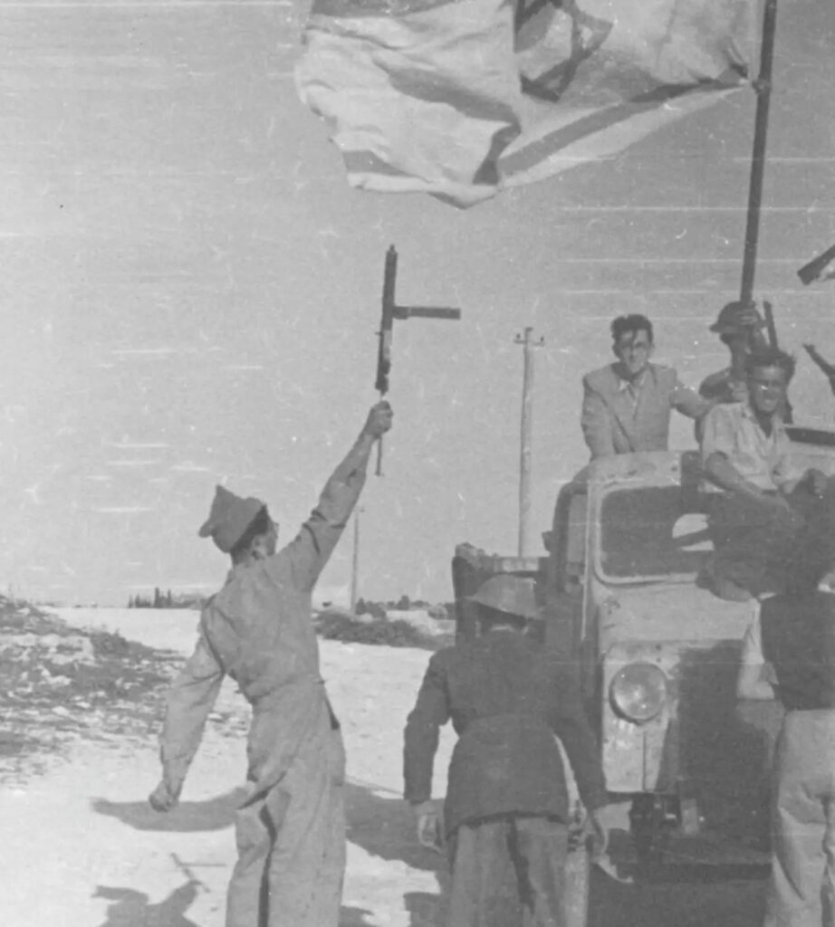 'They ran like cats,' related the commander of the operation, Yehoshua Zettler, the Jerusalem commander of Lehi, as he described the Arabs fleeing from their homes in Deir Yassin.Credit: IDF archive / Defense Ministry.