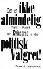 Ved valget til Rigsdagen i 1909 demonstrerede kvinder i hele landet ved at klæbe denne plakat op i valglokalerne