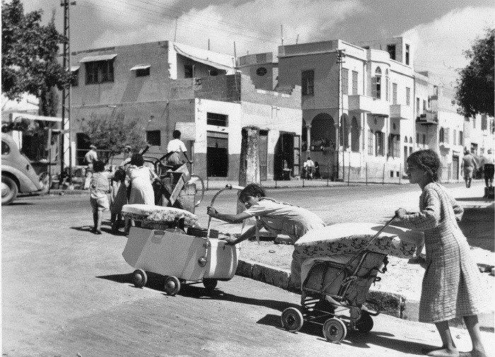 Palestinians flee from the Mediterranean coastal city of Jaffa in 1948.© Archivbild UNRWA