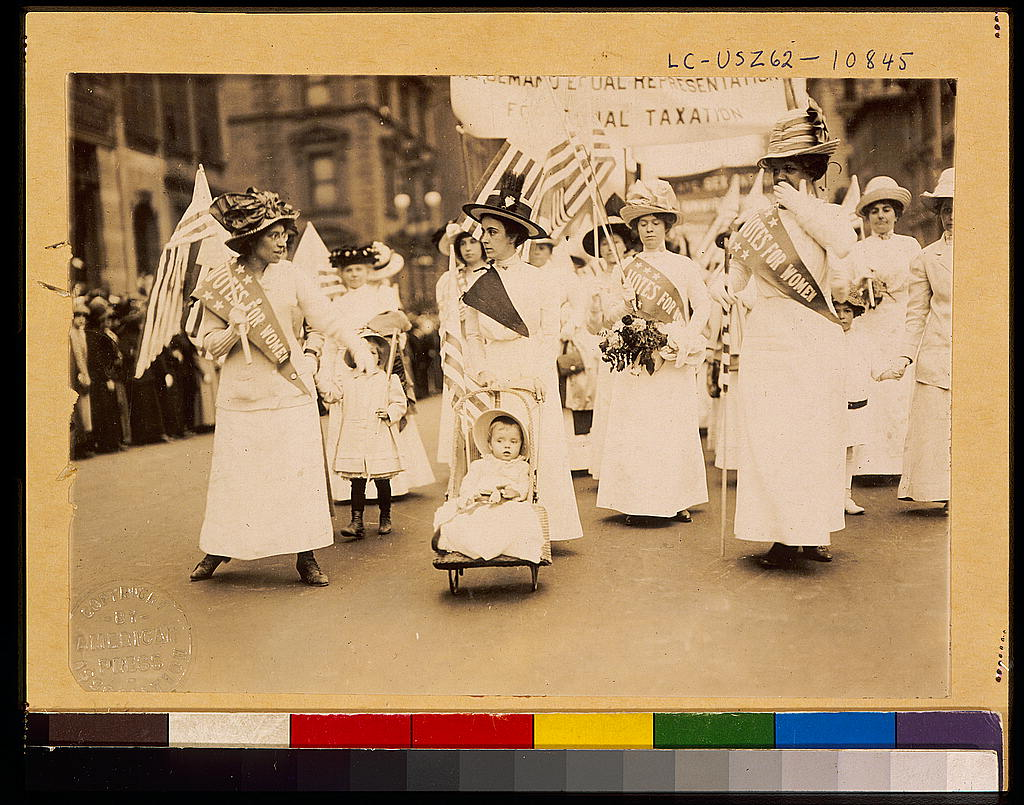 Women's Suffrage Parade in New York City, May 6, 1912. Photo: American Press Association. Public Domain.