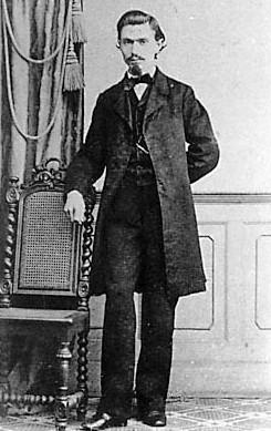 August Bebel im Jahr 1863. Photo: Unbekant. Public Domain.