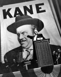 Promotional still for the film, Citizen Kane, January 1941. Photo: RKO Radio Pictures, still photographer Alexander Kahle. Public Domain.