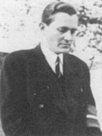Elias Lunn Bredsdorff (1912-2002), Dansk litteraturhistoriker, underviser, og modstandskæmper, 1945 (May?). Foto: Ukendt. Public Domain.