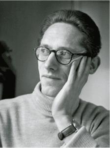Halfdan Rasmussen (1915–2002). Billedet taget i 1953 af ukendt fotograf. Public Domain.