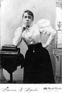 Emma Goldman, circa early 1900s. Courtesy of the Emma Goldman Papers.