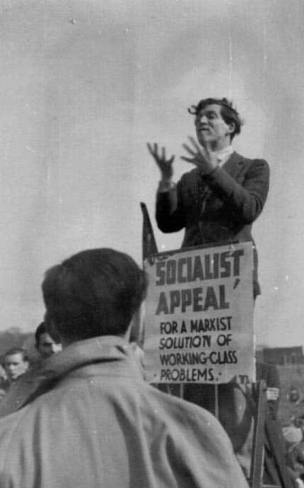 Ted Grant at Speakers' Corner, 1942. Credit: the Ted Grant Archive