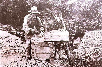 """""""Jens Vejmand"""", ca. 1890. Foto: Ukendt. Kilde: Arkivet Billeder fra det gamle Stevns."""