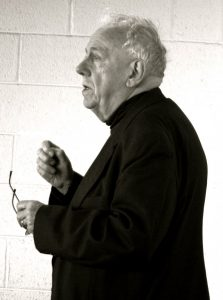 """Alasdair MacIntyre at The International Society for MacIntyrean Enquiry conference held at the University College Dublin, March 2009. Photo: Sean O'Connor. (CC BY 2.0). Source: <a href=""""https://commons.wikimedia.org/wiki/File:Alasdair_MacIntyre.jpg"""">Wikimedia Commons.</a>"""