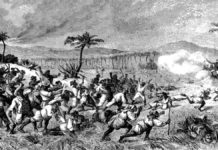 """Fireburn """"Fra Oprøret paa St. Croix"""". Illustreret Tidende, nov. 1878. Se nedenfor 1. oktober 1878."""