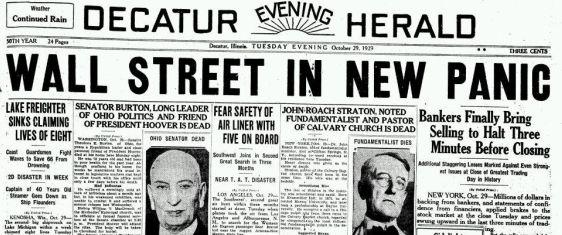 Decatur Evening Herald om Wall street krisen