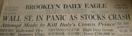 Brooklyn Daily Eagle om Wall Street krakket i 1929