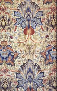 "Detail of Art Needlework embroidery ""Artichoke"" in wool on linen. Date: 1890. Design: William Morris (1834–1896) Public Domain."