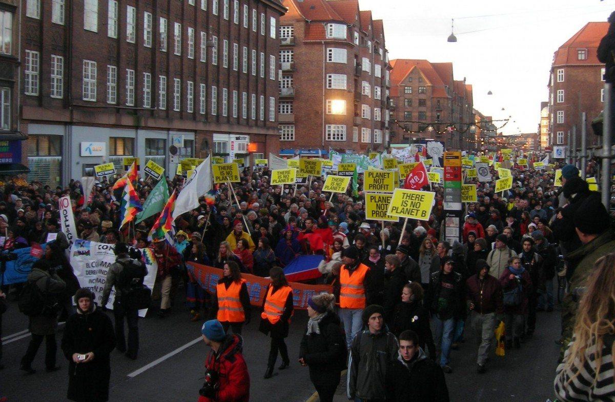COP15 demonstration 12 december 2009 moving towards the Bella Centre. Photo: Pechke. Public Domain.