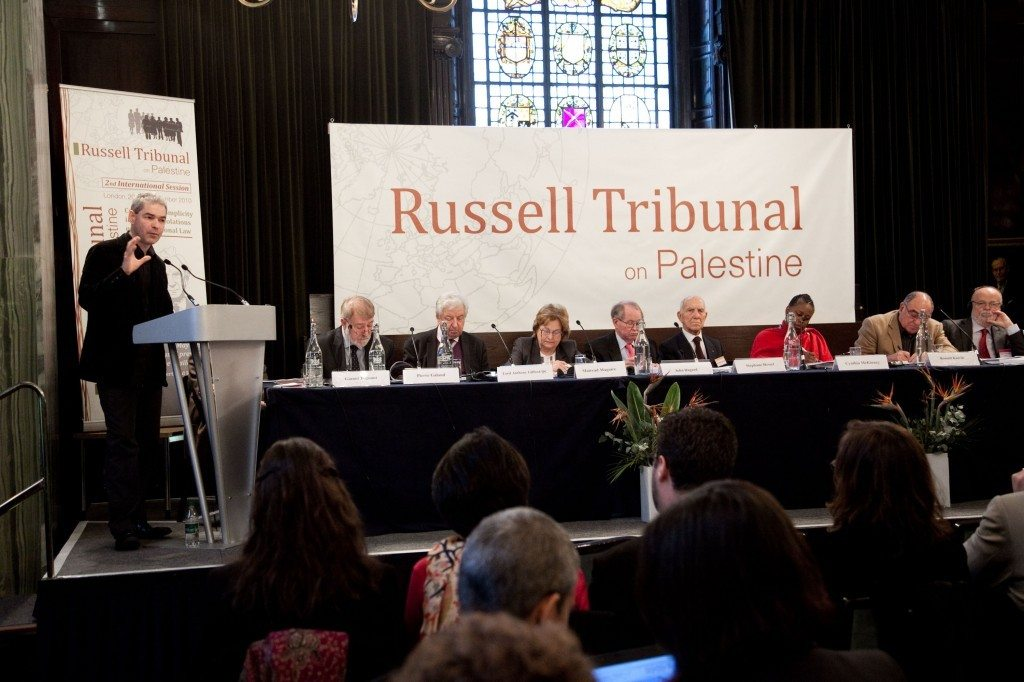 """London session of the Russel Tribunal on Palestine in November 2010 which explored. """"Corporate Complicity in Israel's violations in international human rights law and international humanitarian law"""". (Photo: Kristian Buus/Russel Tribunal) Se 4. marts nedenfor."""