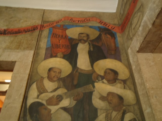 Emiliano Zapata by Diego Rivera in the SEP. Date: 26 September 2011. Source: Own work. Author: Kgv88. (CC BY-SA 3.0)