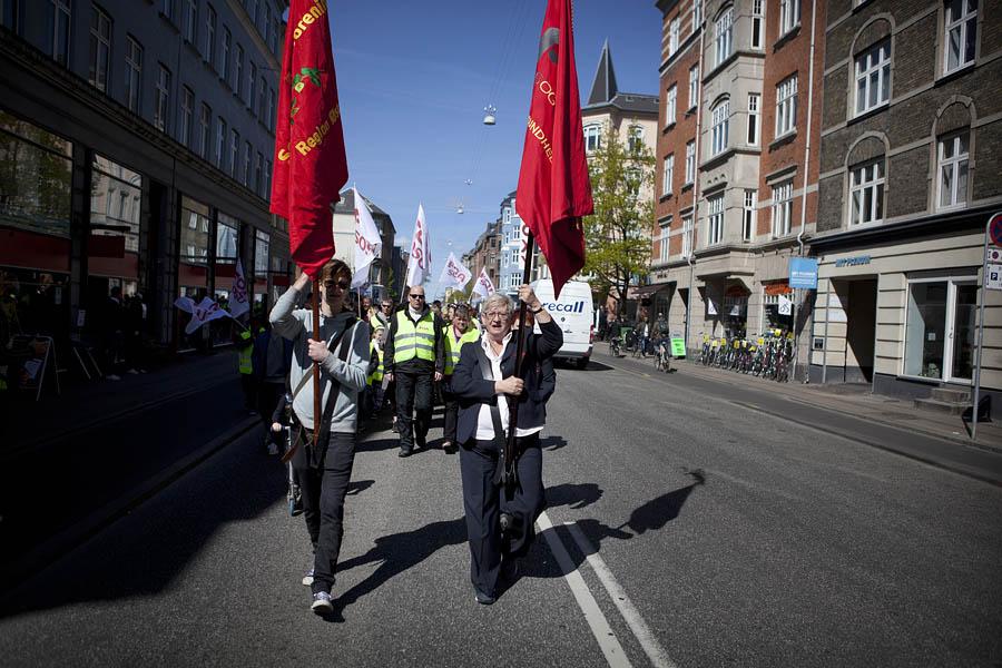 Demonstration på vej mod Fælledparken. Foto: Mark Knudsen/Monsun (2014)