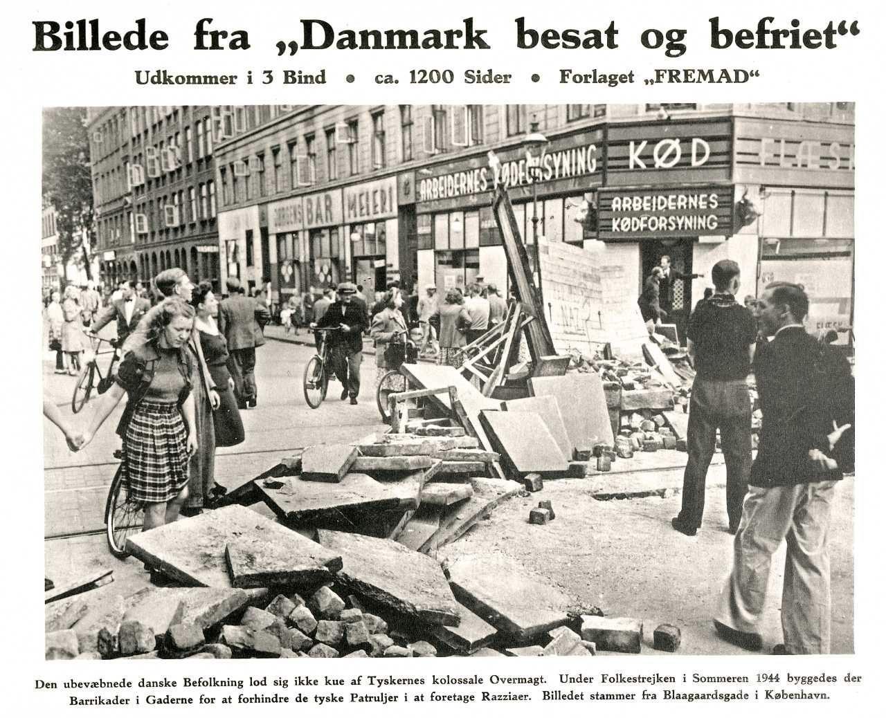 Folkestrejken 1944 Foto: Nationalmuseet, Danmark. Licens: No known rights.