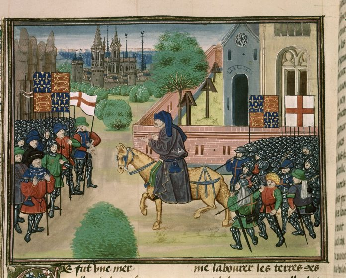 An illustration of the priest John Ball (