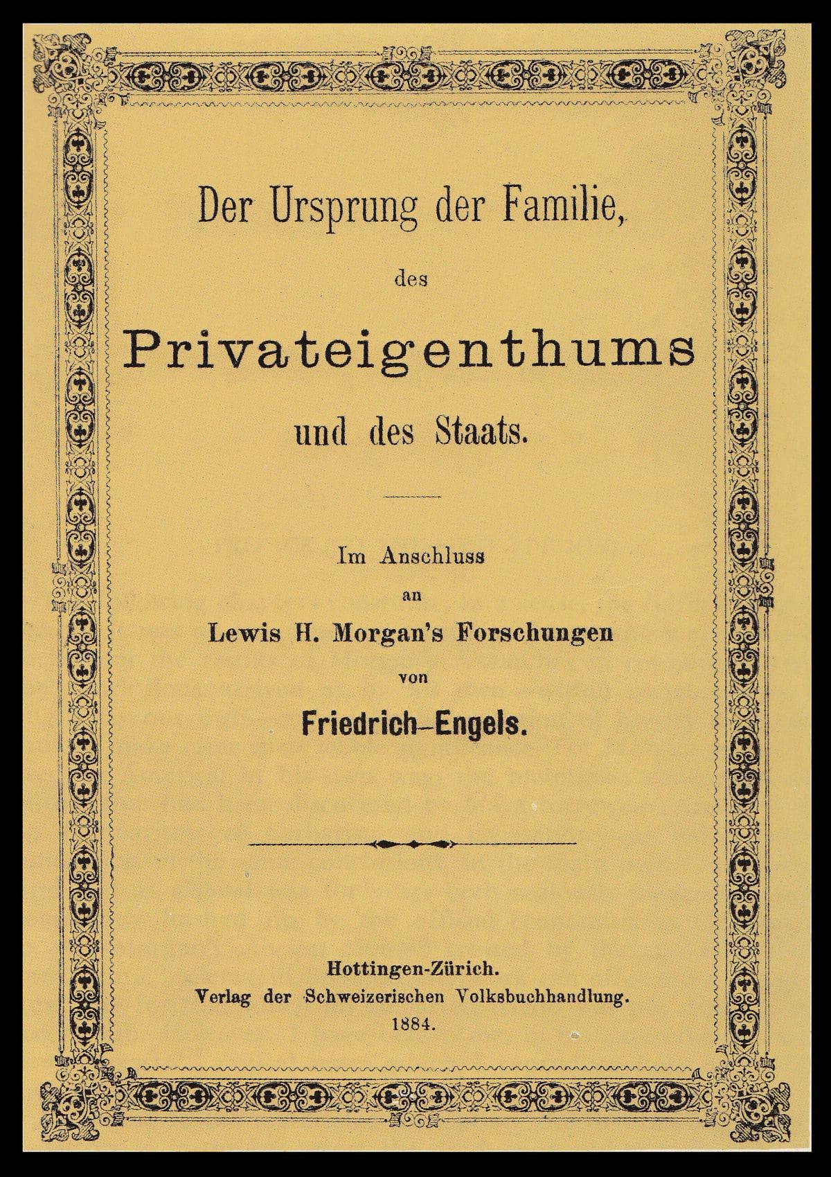 Det originale omslag til den tyske udgave af Fr. Engels'