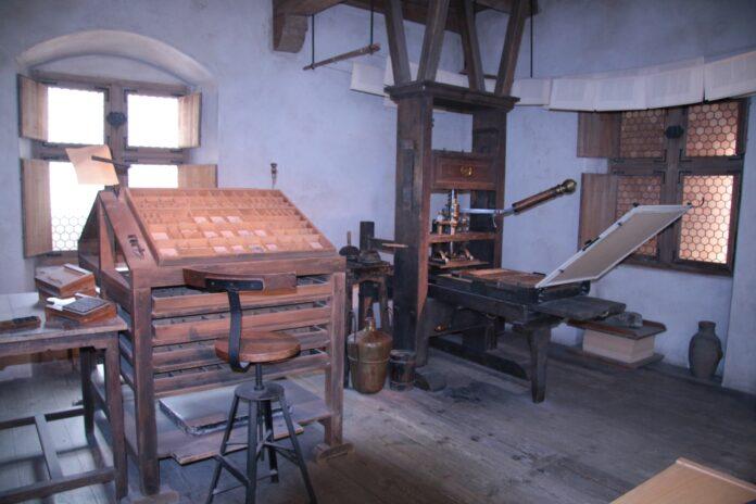 Gutenberg Print Workshop at The Deutsches Museum, Munich & Schleissheim aircraft collections. Photo: Taken on August 28, 2014 by kitmasterbloke. (CC BY 2.0).