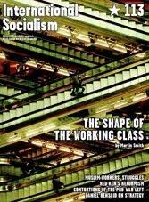 International Soialism No. 113 Cover