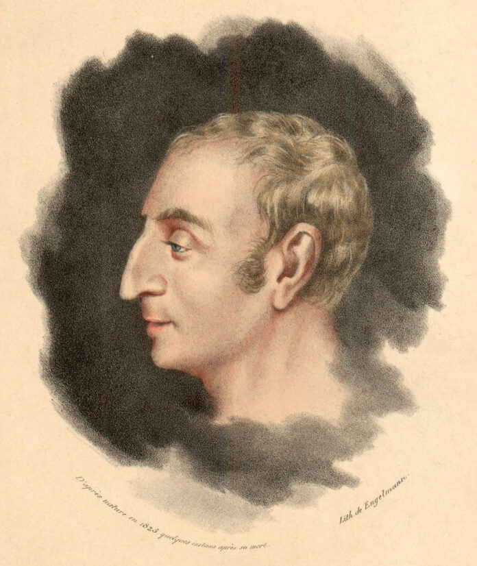 Claude-Henri de Rouvroy, Count of Saint-Simon. Engraving by Gottfried / Godefroy Engelmann (1788–1839), French-German lithographer after a portrait drawn in 1825, a few moments after the death of the philosopher. Collection: Gallica Digital Library. Public Domain.