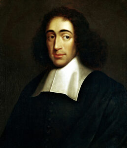 Portrait of Benedictus de Spinoza (1632-1677). Oilpainting from circa 1665 by anonymious. Collection: Herzog August Library, Wolfenbüttel, Germany. Public Domain.