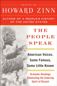 Cover of The People Speak by Howard Zinn.