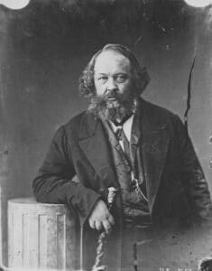 Mikhail Bakunin (1814-1876), circa 1863. Photo: Gaspard-Félix Tournachon. Public Domain.