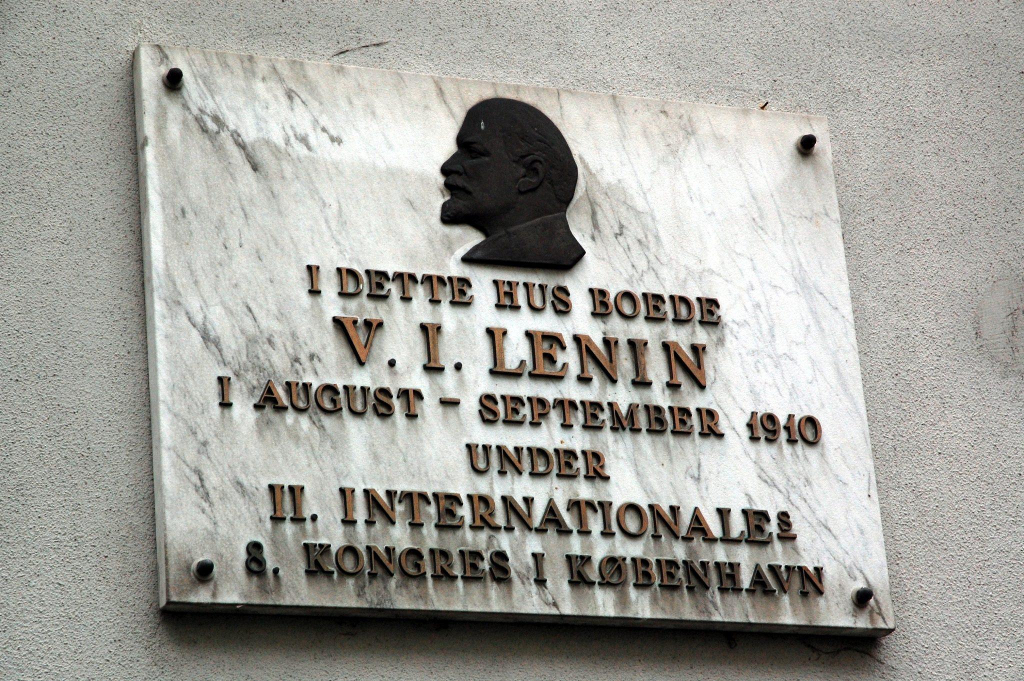 Mindetavle for Lenin