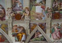 Sistine Chapel, detail of a fresco. Photo: uploadet 8 January 2006 by the photographer W. Hochauer. (CC BY-SA 2.0 DE).