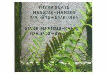 Thyra Manicus-Hansens familiegravsted på Assistens Kirkegård i København. Foto: P. Wessel.