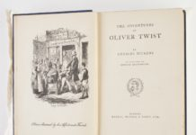 Charles Dickens, 'Oliver Twist & Great Expectations', Hazell, Watson & Viney Ltd, Title Page. Illustrated by George Cruikshank. Photo: Karen Fisher/Museums Victoria. (CC BY 4.0).