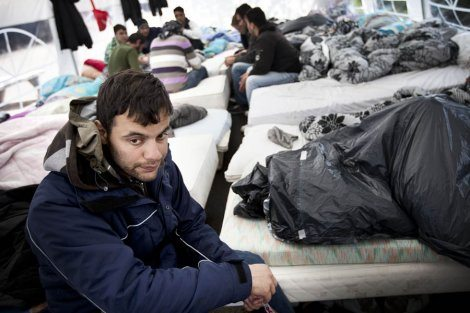 Sultestrejke ved Asylcenter Sigerslev. Foto: Mette Kramer Kristensen/Monsun.