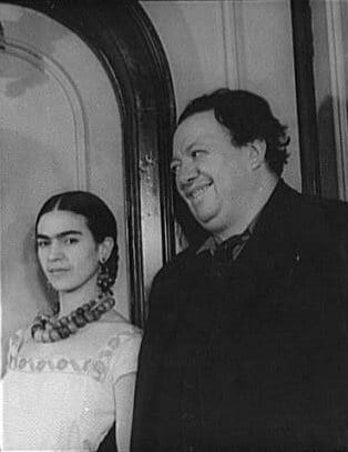 Portrait of Frida Kahlo and Diego Rivera. Photo: Taken 19 March 1932 by Carl Van Vechten (1880–1964), American writer and photographer. Collection: Carl Van Vechten photograph collection (Library of Congress). Public Domain.