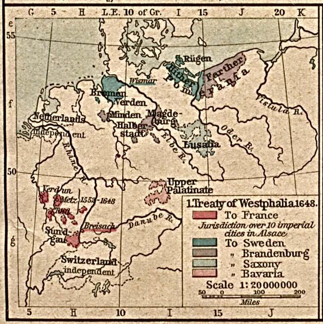 Treaty of Westphalia 1648.